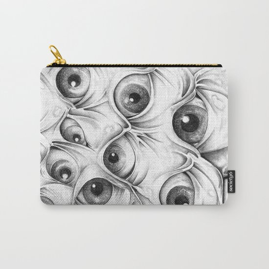 Trippy Abstract Eyeball Drawing Carry-All Pouch