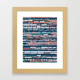 Cool patterns ~ Train Jam Framed Art Print