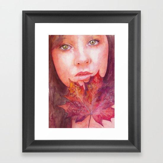Shades of Autumn Framed Art Print