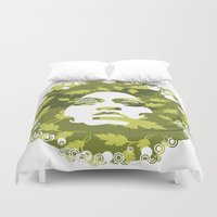 afro Duvet Covers featuring Natural Afro by Chamber Decals