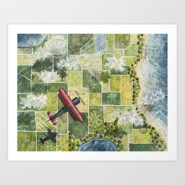 Soaring High Above Art Print