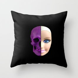 Pink through and through Throw Pillow