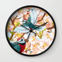 The seasons | Spring birds Wall Clock