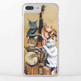 Cat Quartet Clear iPhone Case