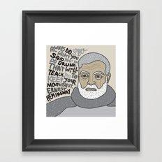 Sober Framed Art Print