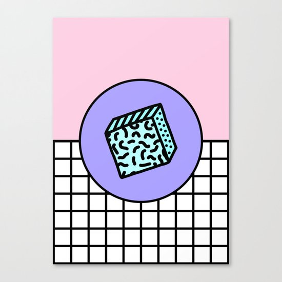 Flux grid Canvas Print