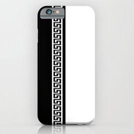 Greek Key 2 - White and Black iPhone Case