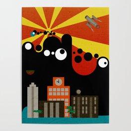 Black Blob Attack Poster