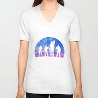 guardians of the galaxy V-neck T-shirts featuring Guardians of the Galaxy - Color by Comix