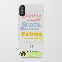 {CAT} SOMRIU · SOMIA · ESTIMA iPhone Case