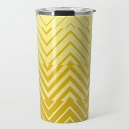Chevron Ombre Stencil | yellow gold Travel Mug