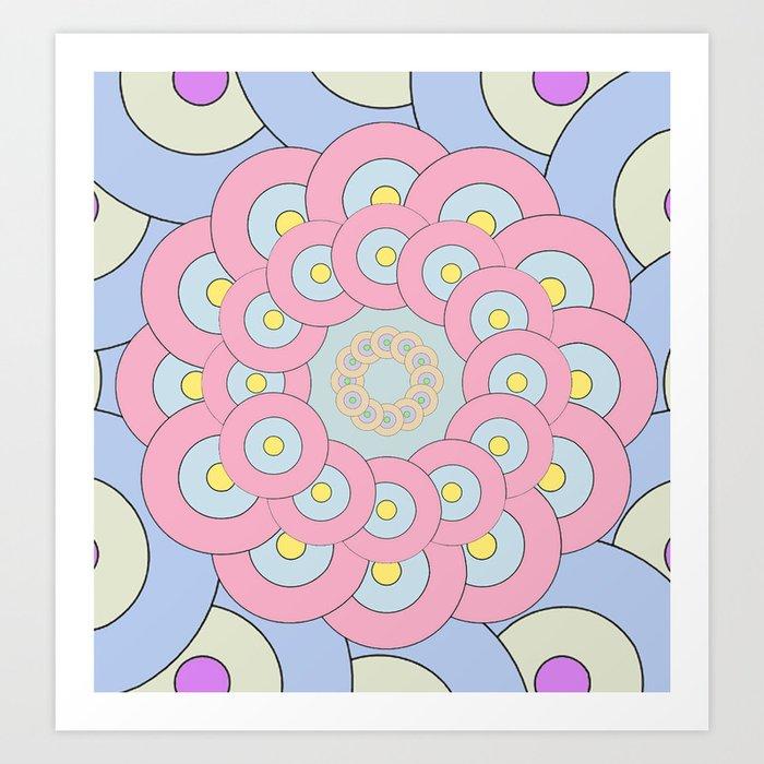 Simple Mandala Art Print by artdekay880