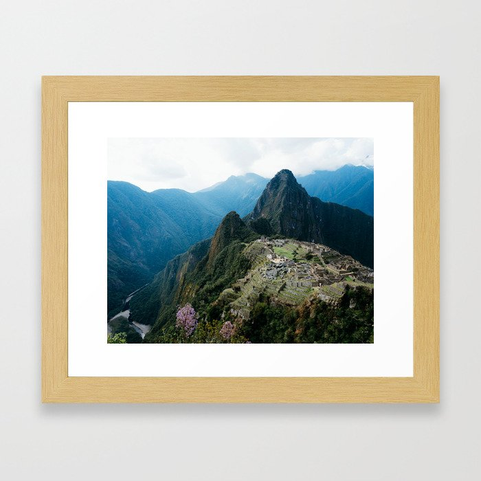 Flowers Before Machu Picchu Framed Art Print
