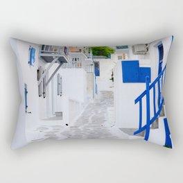 Beautiful Whitewashed Street Mykonos Greece Rectangular Pillow