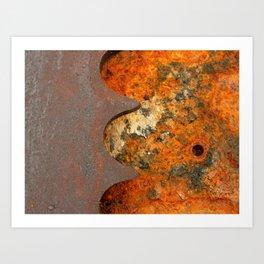 Rusty Gear Art Print