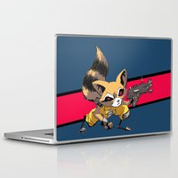 rocket raccoon Laptop & iPad Skins featuring ROCKET RACCOON by Walko