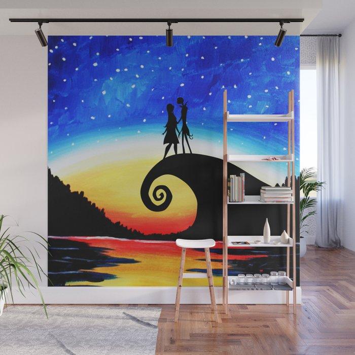 jack skellington starry night wall mural by albertjunior society6 rh society6 com