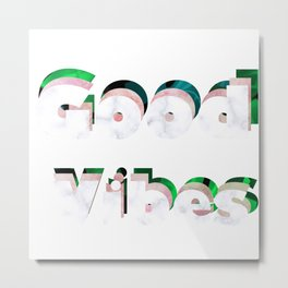 Good vibes logo design Metal Print