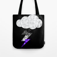 asexual Tote Bags featuring Asexual Storm Cloud by Casira Copes