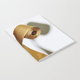 Gold Toilet Paper Notebook