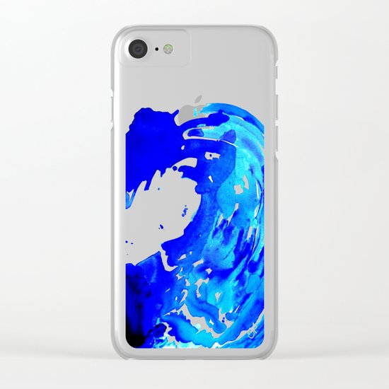 Save The Water Watercolour Clear iPhone Case