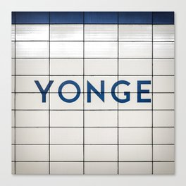 Toronto Younge Subway Station Sign Canvas Print