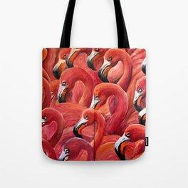 Flamingo Gaggle Tote Bag