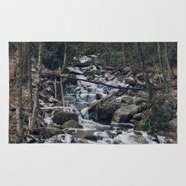 Frozen Stream From Mountain High Rug