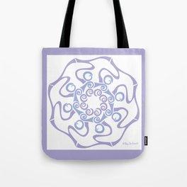 Hope Flower Mandala - Lavender White Framed Tote Bag