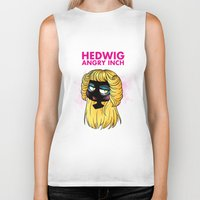 hedwig Biker Tanks featuring Hedwig and the Angry Inch by Sunshunes