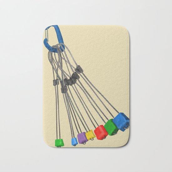 Rock Climbing Wires Bath Mat
