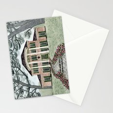 House With Tulips Stationery Cards