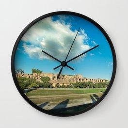 Circo massimo clouds Wall Clock