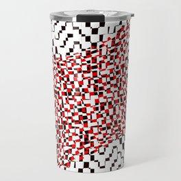black white red 2 Travel Mug