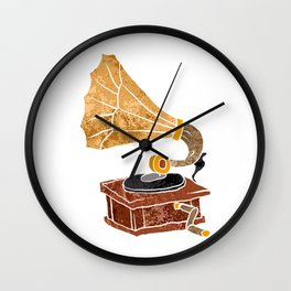 gramophone cartoon Wall Clock