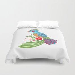 The Blue Quetzal Duvet Cover