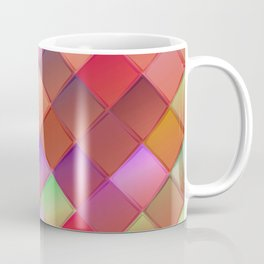 Pattern with pink squares.Trendy hipster print. Modern graphic design. Coffee Mug