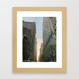 Philly Street View Framed Art Print