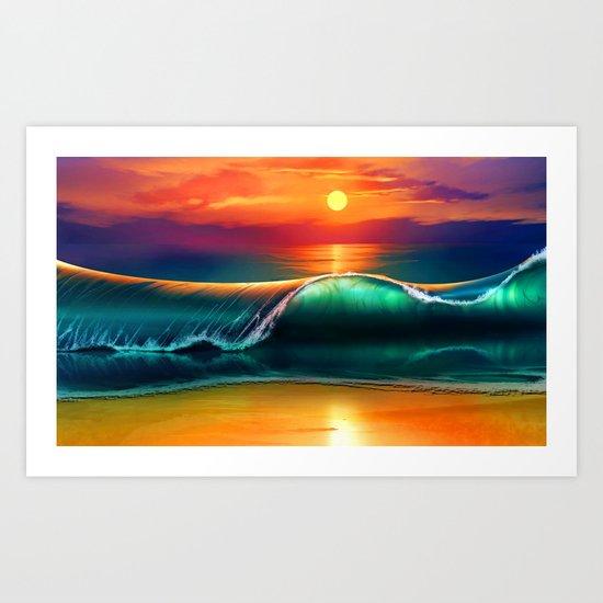 Beauty wave I Art Print