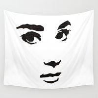 audrey Wall Tapestries featuring Audrey by Abstractink82