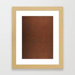 Football / Basketball Leather Texture Skin Framed Art Print