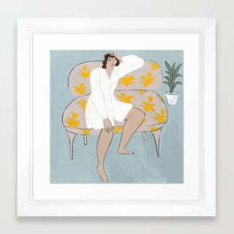 Wonderer on a Couch Framed Art Print