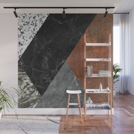 Marble, Granite, Rusted Iron Abstract Wall Mural