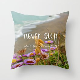 Explore Forever Throw Pillow