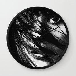 Girl, Face, Beauty, Model, Lips, Hair, Modern, Minimal, Interior, Wall art Wall Clock