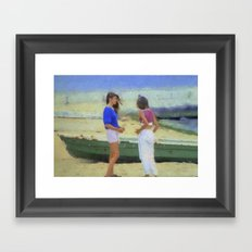 Beach Girls Framed Art Print