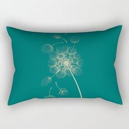 Dandelion of Teal Rectangular Pillow