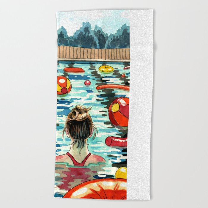 Pooling Beach Towel