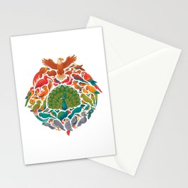 Aerial Rainbow : white Stationery Cards