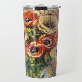 """Auguste Renoir """"Anémones dans un vase"""" Travel Mug"""